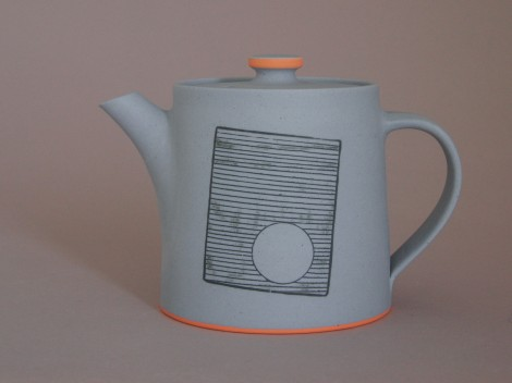 james and tilla waters unglazed teapot