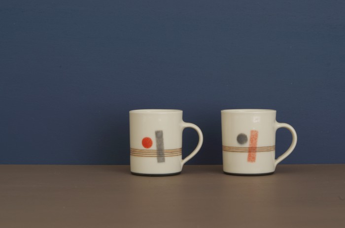 decorated espresso cups by James and Tilla Waters