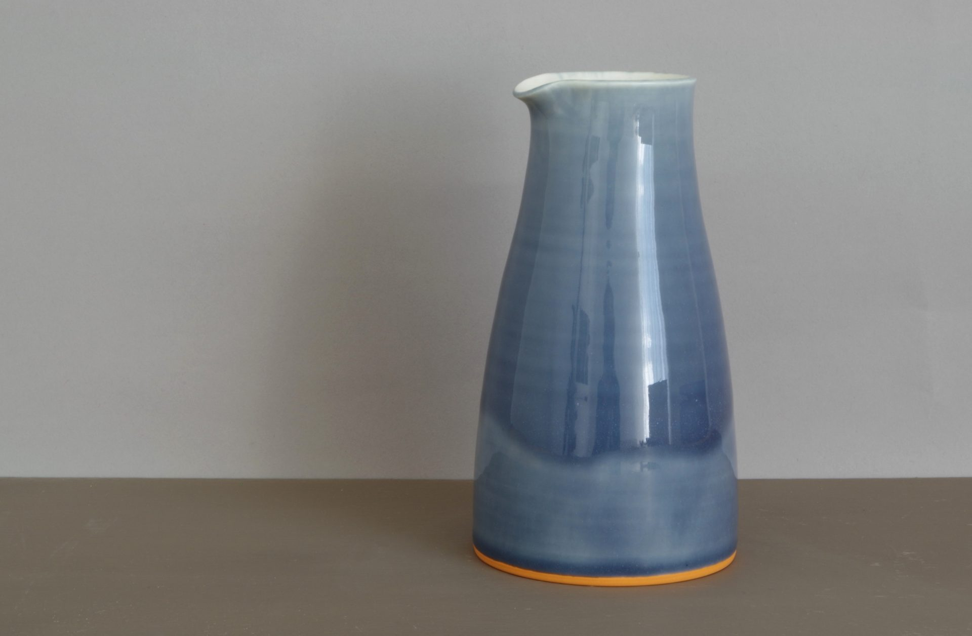 large slate pourer, James and Tilla Waters