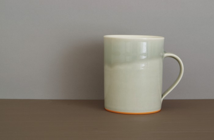 grey orange med mug by James and Tilla Waters