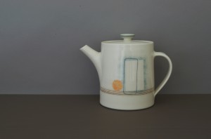 orange circle teapot by James and Tilla Waters