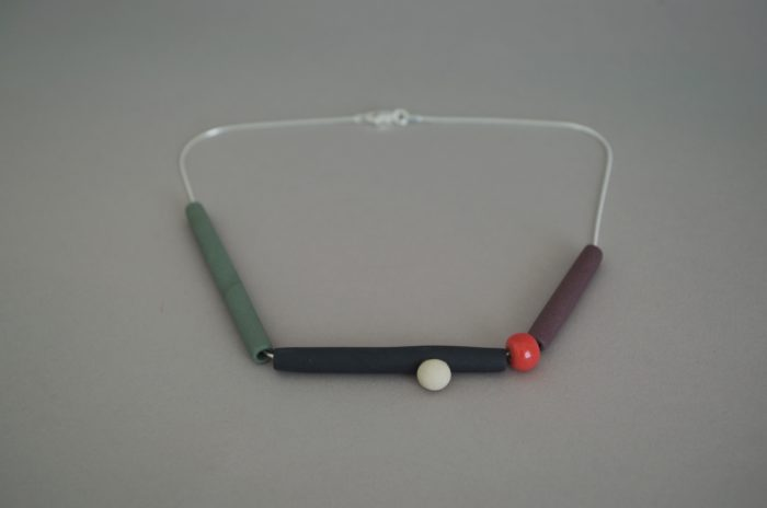 handmade ceramic bead necklace by Tilla Waters