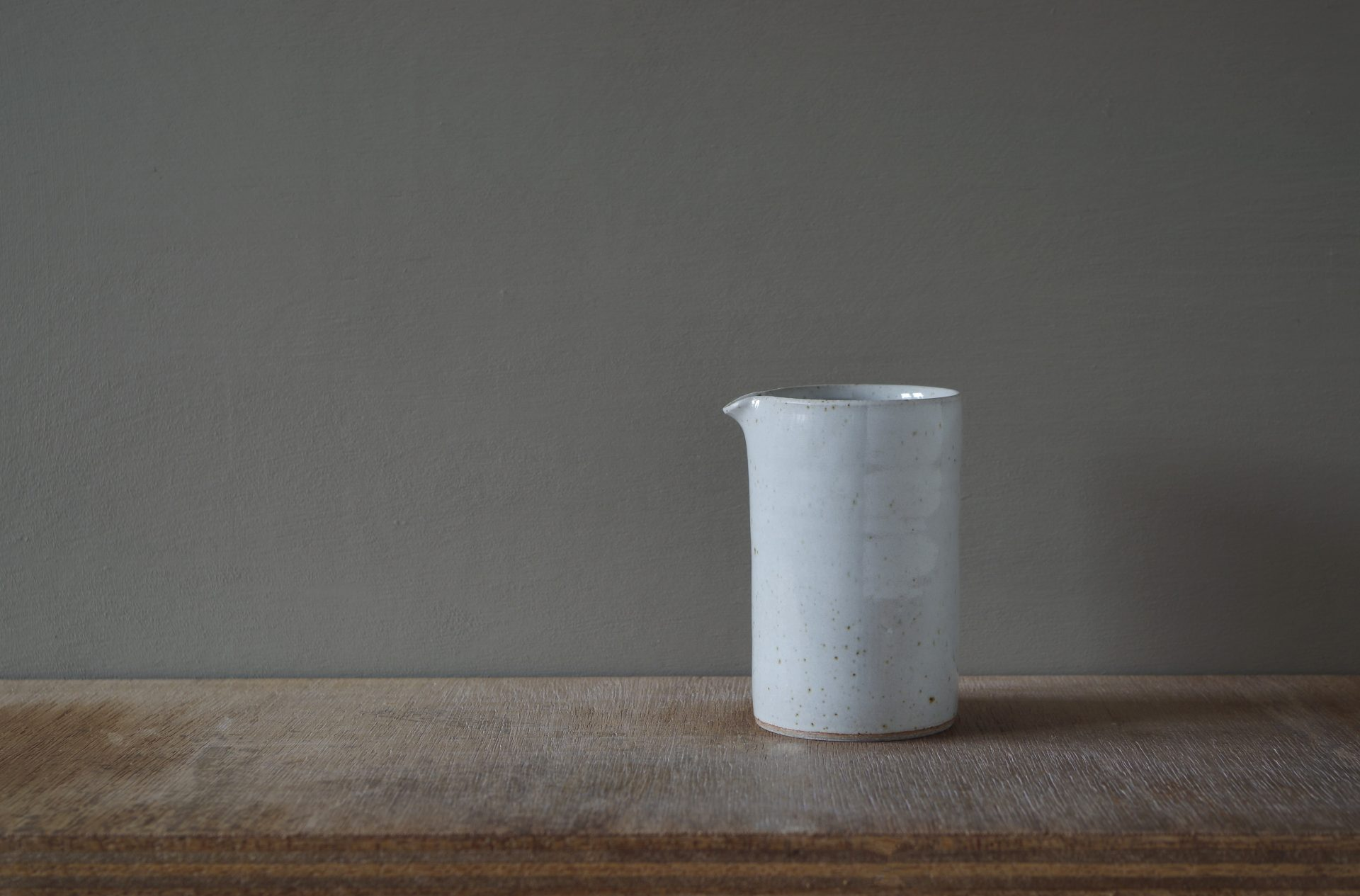 small white pourer by James and Tilla Waters