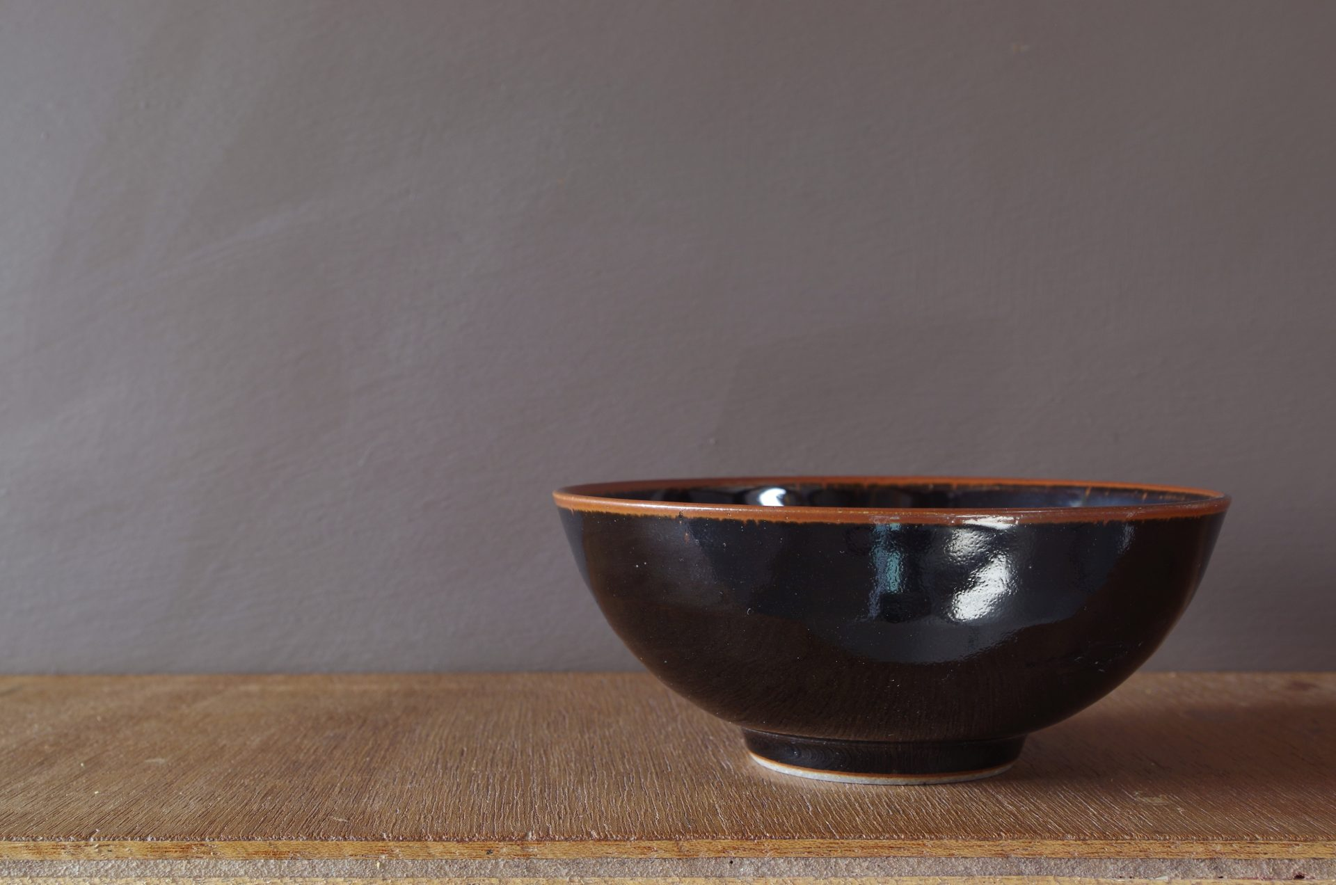 black tenmoku stoneware bowl by James and Tilla Waters