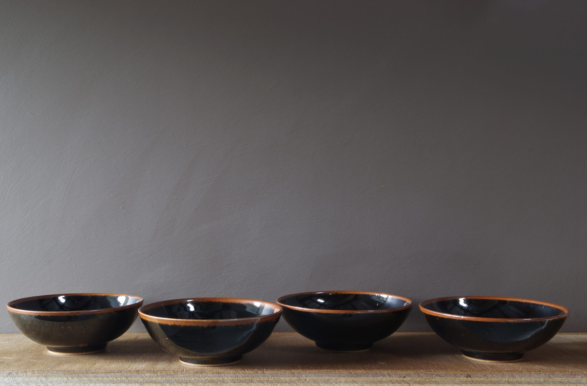 black tenmoku stoneware bowl by James and Tilla Water