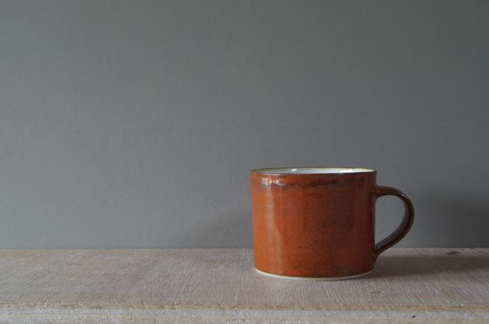 persimmon breakfast mug by James and Tilla Waters