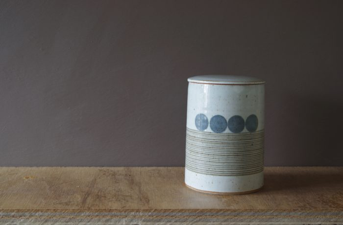 thrown stoneware lidded jar by James and Tilla Waters