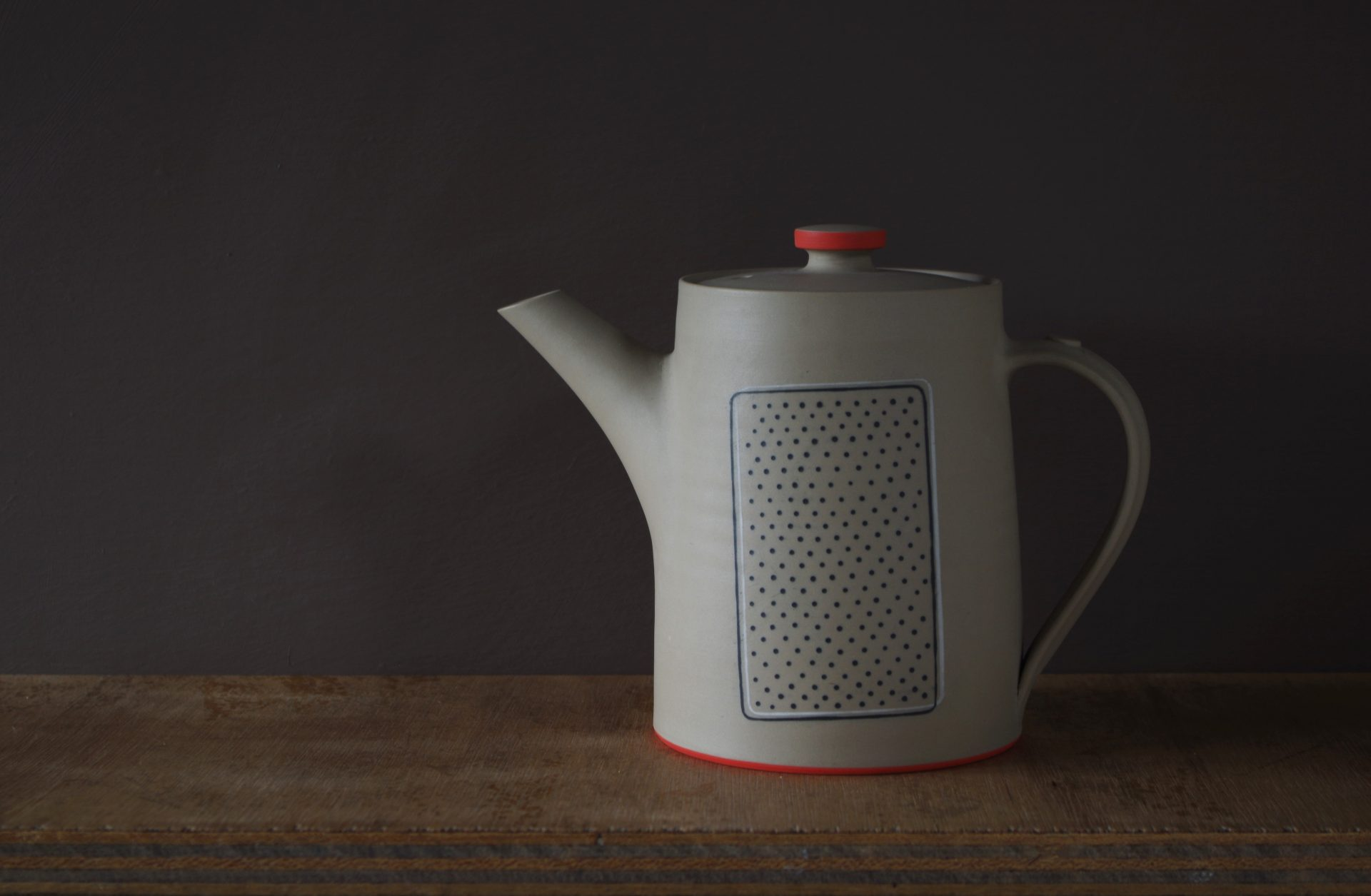 unglazed tea pot by James and Tilla Waters