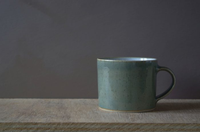 celadon breakfast mug by James and Tilla Waters