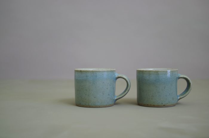 espresso cups glazed in chun by James and Tilla Waters