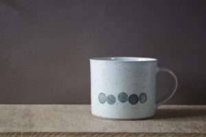 decorated breakfast mug by James and Tilla Waters